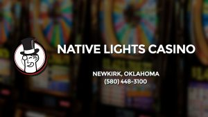 Casino & gambling-themed header image for Barons Bus Charter service to Native Lights Casino in Newkirk, Oklahoma. Please call 5804483100 to contact the casino directly.)