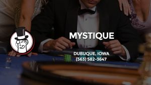 Casino & gambling-themed header image for Barons Bus Charter service to Mystique in Dubuque, Iowa. Please call 5635823647 to contact the casino directly.)