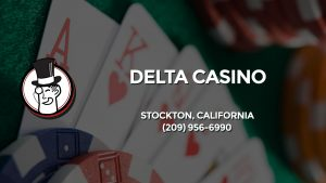 Casino & gambling-themed header image for Barons Bus Charter service to Delta Casino in Stockton, California. Please call 2099566990 to contact the casino directly.)