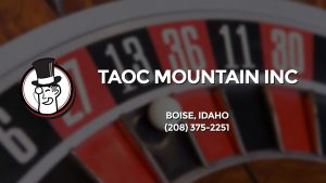 Casino & gambling-themed header image for Barons Bus Charter service to Taoc Mountain Inc in Boise, Idaho. Please call 2083752251 to contact the casino directly.)