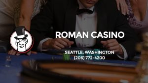 Casino & gambling-themed header image for Barons Bus Charter service to Roman Casino in Seattle, Washington. Please call 2067724200 to contact the casino directly.)