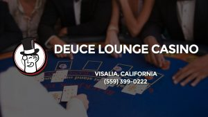 Casino & gambling-themed header image for Barons Bus Charter service to Deuce Lounge Casino in Visalia, California. Please call 5593990222 to contact the casino directly.)