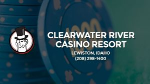 Casino & gambling-themed header image for Barons Bus Charter service to Clearwater River Casino Resort in Lewiston, Idaho. Please call 2082981400 to contact the casino directly.)