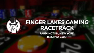 Casino & gambling-themed header image for Barons Bus Charter service to Finger Lakes Gaming Racetrack in Farmington, New York. Please call 5857427300 to contact the casino directly.)