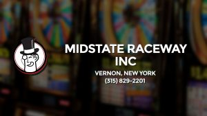 Casino & gambling-themed header image for Barons Bus Charter service to Midstate Raceway Inc in Vernon, New York. Please call 3158292201 to contact the casino directly.)