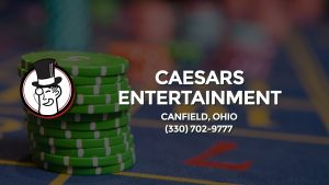 Casino & gambling-themed header image for Barons Bus Charter service to Caesars Entertainment in Canfield, Ohio. Please call 3307029777 to contact the casino directly.)