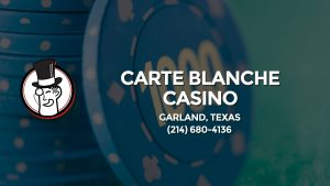 Casino & gambling-themed header image for Barons Bus Charter service to Carte Blanche Casino in Garland, Texas. Please call 2146804136 to contact the casino directly.)