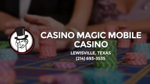 Casino & gambling-themed header image for Barons Bus Charter service to Casino Magic Mobile Casino in Lewisville, Texas. Please call 2146933535 to contact the casino directly.)