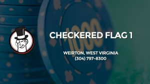 Casino & gambling-themed header image for Barons Bus Charter service to Checkered Flag 1 in Weirton, West Virginia. Please call 3047978300 to contact the casino directly.)