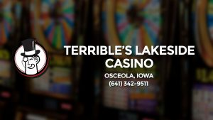 Casino & gambling-themed header image for Barons Bus Charter service to Terrible's Lakeside Casino in Osceola, Iowa. Please call 6413429511 to contact the casino directly.)