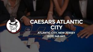 Casino & gambling-themed header image for Barons Bus Charter service to Caesars Atlantic City in Atlantic City, New Jersey. Please call 6093484411 to contact the casino directly.)