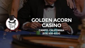 Casino & gambling-themed header image for Barons Bus Charter service to Golden Acorn Casino in Campo, California. Please call 6199386000 to contact the casino directly.)