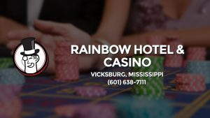 Casino & gambling-themed header image for Barons Bus Charter service to Rainbow Hotel & Casino in Vicksburg, Mississippi. Please call 6016387111 to contact the casino directly.)