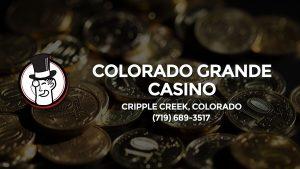 Casino & gambling-themed header image for Barons Bus Charter service to Colorado Grande Casino in Cripple Creek, Colorado. Please call 7196893517 to contact the casino directly.)