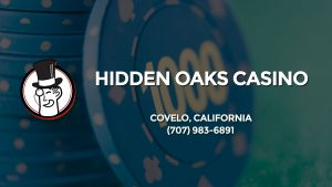 Casino & gambling-themed header image for Barons Bus Charter service to Hidden Oaks Casino in Covelo, California. Please call 7079836891 to contact the casino directly.)
