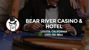 Casino & gambling-themed header image for Barons Bus Charter service to Bear River Casino & Hotel in Loleta, California. Please call 7077339644 to contact the casino directly.)