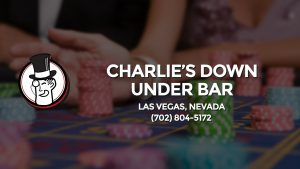 Casino & gambling-themed header image for Barons Bus Charter service to Charlie's Down Under Bar in Las Vegas, Nevada. Please call 7028045172 to contact the casino directly.)