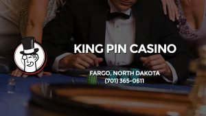 Casino & gambling-themed header image for Barons Bus Charter service to King Pin Casino in Fargo, North Dakota. Please call 7013650611 to contact the casino directly.)