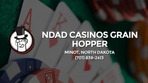 Casino & gambling-themed header image for Barons Bus Charter service to Ndad Casinos Grain Hopper in Minot, North Dakota. Please call 7018392413 to contact the casino directly.)