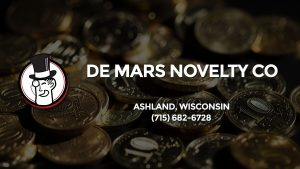 Casino & gambling-themed header image for Barons Bus Charter service to De Mars Novelty Co in Ashland, Wisconsin. Please call 7156826728 to contact the casino directly.)