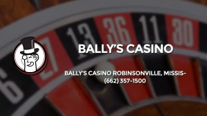 Casino & gambling-themed header image for Barons Bus Charter service to Bally's Casino in Bally's Casino Robinsonville, Mississippi. Please call 6623571500 to contact the casino directly.)