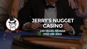 Casino & gambling-themed header image for Barons Bus Charter service to Jerry's Nugget Casino in Las Vegas, Nevada. Please call 7023993000 to contact the casino directly.)