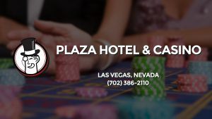 Casino & gambling-themed header image for Barons Bus Charter service to Plaza Hotel & Casino in Las Vegas, Nevada. Please call 7023862110 to contact the casino directly.)