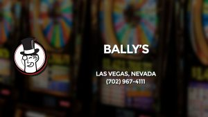 Casino & gambling-themed header image for Barons Bus Charter service to Bally's in Las Vegas, Nevada. Please call 7029674111 to contact the casino directly.)