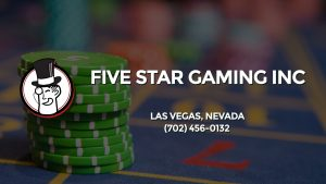 Casino & gambling-themed header image for Barons Bus Charter service to Five Star Gaming Inc in Las Vegas, Nevada. Please call 7024560132 to contact the casino directly.)