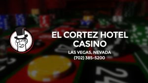 Casino & gambling-themed header image for Barons Bus Charter service to El Cortez Hotel Casino in Las Vegas, Nevada. Please call 7023855200 to contact the casino directly.)