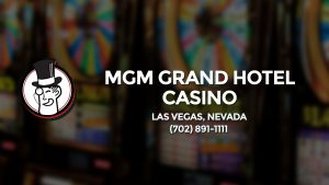 Casino & gambling-themed header image for Barons Bus Charter service to Mgm Grand Hotel Casino in Las Vegas, Nevada. Please call 7028911111 to contact the casino directly.)