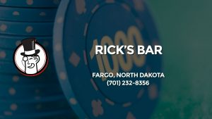 Casino & gambling-themed header image for Barons Bus Charter service to Rick's Bar in Fargo, North Dakota. Please call 7012328356 to contact the casino directly.)