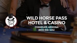 Casino & gambling-themed header image for Barons Bus Charter service to Wild Horse Pass Hotel & Casino in Chandler, Arizona. Please call 8009464452 to contact the casino directly.)