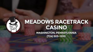 Casino & gambling-themed header image for Barons Bus Charter service to Meadows Racetrack Casino in Washington, Pennsylvania. Please call 7245031200 to contact the casino directly.)