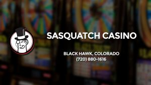 Casino & gambling-themed header image for Barons Bus Charter service to Sasquatch Casino in Black Hawk, Colorado. Please call 7208801616 to contact the casino directly.)