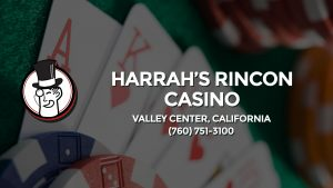Casino & gambling-themed header image for Barons Bus Charter service to Harrah's Rincon Casino in Valley Center, California. Please call 7607513100 to contact the casino directly.)