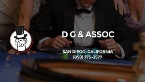 Casino & gambling-themed header image for Barons Bus Charter service to D G & Assoc in San Diego, California. Please call 8587753577 to contact the casino directly.)