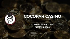 Casino & gambling-themed header image for Barons Bus Charter service to Cocopah Casino in Somerton, Arizona. Please call 9287268066 to contact the casino directly.)