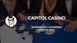Casino & gambling-themed header image for Barons Bus Charter service to Capitol Casino in Sacramento, California. Please call 9164460700 to contact the casino directly.)