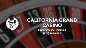 Casino & gambling-themed header image for Barons Bus Charter service to California Grand Casino in Pacheco, California. Please call 9256858397 to contact the casino directly.)