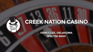 Casino & gambling-themed header image for Barons Bus Charter service to Creek Nation Casino in Okmulgee, Oklahoma. Please call 9187568400 to contact the casino directly.)