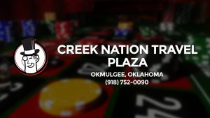 Casino & gambling-themed header image for Barons Bus Charter service to Creek Nation Travel Plaza in Okmulgee, Oklahoma. Please call 9187520090 to contact the casino directly.)