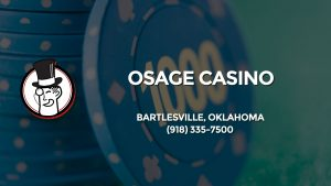 Casino & gambling-themed header image for Barons Bus Charter service to Osage Casino in Bartlesville, Oklahoma. Please call 9183357500 to contact the casino directly.)