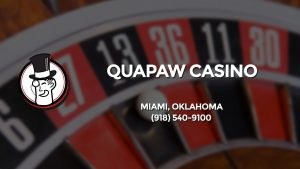 Casino & gambling-themed header image for Barons Bus Charter service to Quapaw Casino in Miami, Oklahoma. Please call 9185409100 to contact the casino directly.)