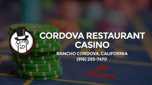Casino & gambling-themed header image for Barons Bus Charter service to Cordova Restaurant Casino in Rancho Cordova, California. Please call 9162937470 to contact the casino directly.)