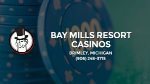 Casino & gambling-themed header image for Barons Bus Charter service to Bay Mills Resort Casinos in Brimley, Michigan. Please call 9062483715 to contact the casino directly.)