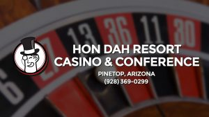Casino & gambling-themed header image for Barons Bus Charter service to Hon Dah Resort Casino & Conference Center in Pinetop, Arizona. Please call 9283690299 to contact the casino directly.)