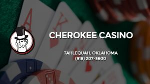 Casino & gambling-themed header image for Barons Bus Charter service to Cherokee Casino in Tahlequah, Oklahoma. Please call 9182073600 to contact the casino directly.)