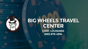 Casino & gambling-themed header image for Barons Bus Charter service to Big Wheels Travel Center in Gray, Louisiana. Please call 9858794994 to contact the casino directly.)