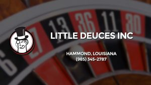 Casino & gambling-themed header image for Barons Bus Charter service to Little Deuces Inc in Hammond, Louisiana. Please call 9853452787 to contact the casino directly.)